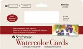 Strathmore Blank Watercolor Cards Slim Size 4x9 10 Pack