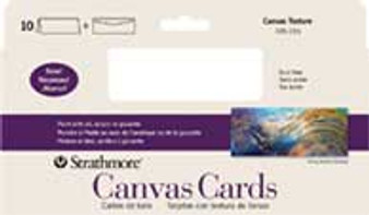 Strathmore Blank Canvas Cards Slim Size 4x9 10 Pack