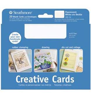 Strathmore Creative Cards Fluorescent White 5x7 20pk