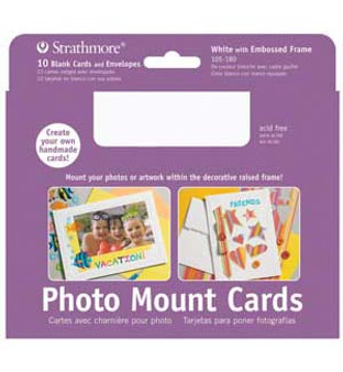 Strathmore Photo Mount Cards White 5x7 10pk