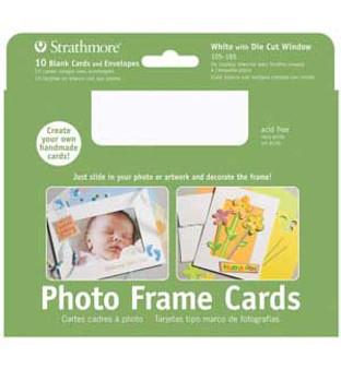 Strathmore Photo Frame Cards White 5x7 10pk