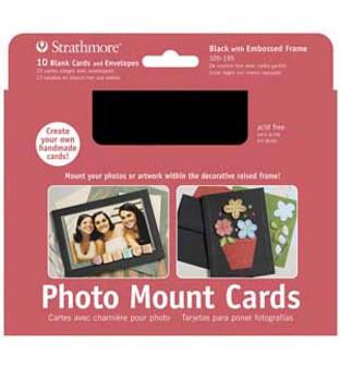 Strathmore Photo Mount Cards Black 5x7 10pk