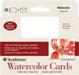 Strathmore Blank Watercolor Card Announcement Size 3x5 10 Pack