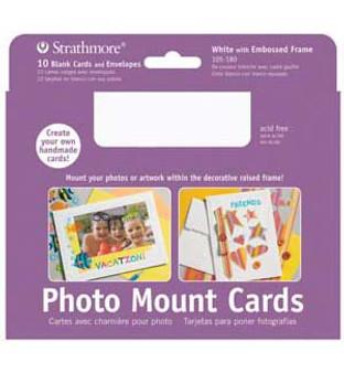 Strathmore Photo Mount Cards White 5x7 50pk
