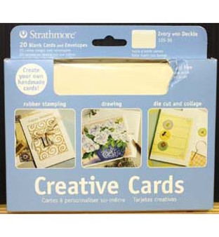 Strathmore Creative Cards Ivory Deckle 5x7 20pk