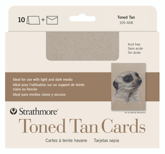 Strathmore Blank Card Toned Tan 5x7 10 Pack
