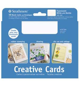 Strathmore Creative Cards Fluorescent White Deckle 5x7 100pk