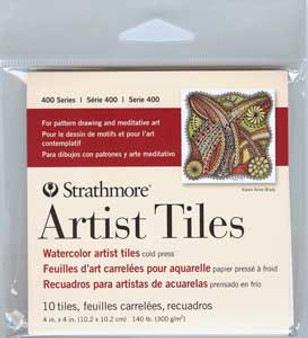 Strathmore Artist Tiles Watercolor Pack 4x4