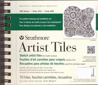 Strathmore Artist Tiles Sketch Wire Bound Pad 6x6