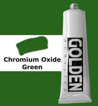 Golden Artist Colors Heavy Body Acrylic: 2oz Chrome Oxide Green
