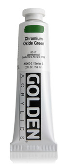 Golden Artist Colors Heavy Body Acrylic: 2oz Chrome Oxide Green