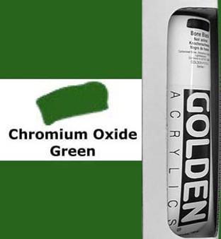 Golden Artist Colors Heavy Body Acrylic: 5oz Chromium Oxide Green