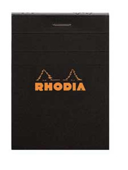 "Rhodia 2x3"" Lined Journal Black Cover"