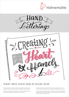 "Hahnemuhle Hand Lettering 12x16"" A3 25 Sheets"