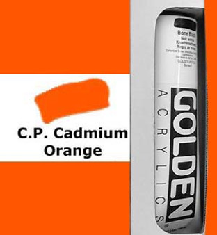 Golden Artist Colors Heavy Body Acrylic: 5oz Cadmium Orange