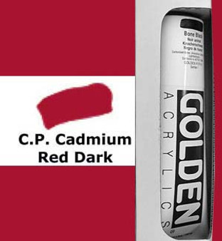 Golden Artist Colors Heavy Body Acrylic: 5oz Cadmium Red Dark