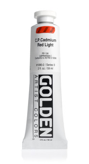 Golden Artist Colors Heavy Body Acrylic: 2oz Cadmium Red Light