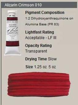 M. Graham Oil 1.25oz Series 2: Alizarin Crimson