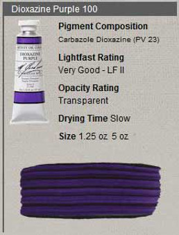 M. Graham Oil 1.25oz Series 3: Dioxazine Purple