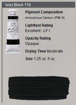 M. Graham Oil 1.25oz Series 1: Ivory Black