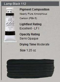 M. Graham Oil 1.25oz Series 1: Lamp Black