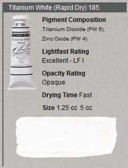 M. Graham Oil 1.25oz Series 1: Titanium White Rapid Dry