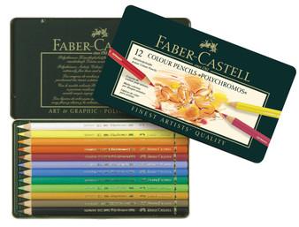 Faber-Castell Polychromos Pencil Tin Set 12