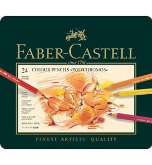 Faber-Castell Polychromous Pencil Tin Set of 24