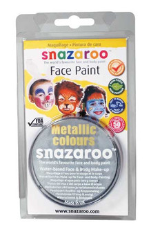 Snazaroo Face Paint 18ml Metallic Silver