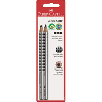 Faber-Castell Red Label Jumbo Grip Writing Pencil 2pk