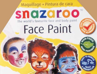 Snazaroo Face Paint 18ml Light Brown
