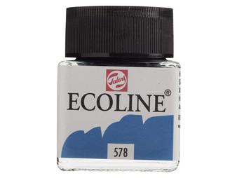 Talens Ecoline Liquid Watercolor 30ml Jar Sky Blue (Cyan)