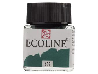Talens Ecoline Liquid Watercolor 30ml Jar Deep Green