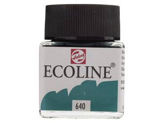 Talens Ecoline Liquid Watercolor 30ml Jar Bluish Green