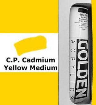 Golden Artist Colors Heavy Body Acrylic: 5oz Cadmium Yellow Medium