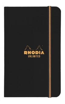 Rhodia Unlimited Pocket Notebooks 3.5x5.5 Lined - Orange or Black Cover