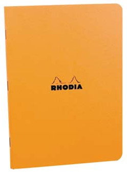 Rhodia Stapled Side-Bound 6x8 Lined Orange