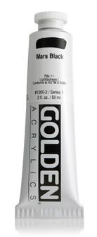 Golden Artist Colors Heavy Body Acrylic: 2oz Mars Black