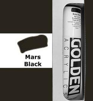 Golden Artist Colors Heavy Body Acrylic: 5oz Mars Black