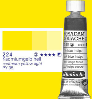 Schmincke Horadam Gouache 15ml Cadmium Yellow Light