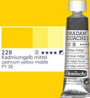 Schmincke Horadam Gouache 15ml Cadmium Yellow Middle