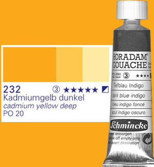 Schmincke Horadam Gouache 15ml Cadmium Yellow Deep