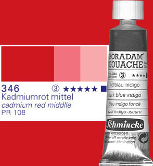 Schmincke Horadam Gouache 15ml Cadmium Red Middle