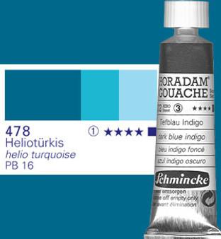 Schmincke Horadam Gouache 15ml Helio Turquoise