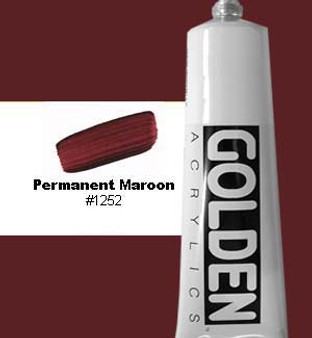 Golden Artist Colors Heavy Body Acrylic 2 oz Permanent Maroon