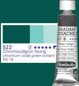 Schmincke Horadam Gouache 15ml Chrome Ox Green Blue