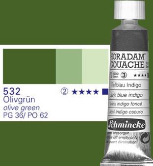 Schmincke Horadam Gouache 15ml Olive Green