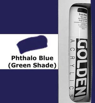 Golden Artist Colors Heavy Body Acrylic: 5oz Phthalo Blue Green Shade