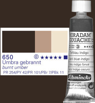 Schmincke Horadam Gouache 15ml Burnt Umber