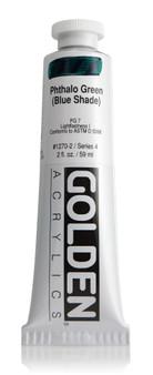 Golden Artist Colors Heavy Body Acrylic: 2oz Phthalo Green Blue Shade
